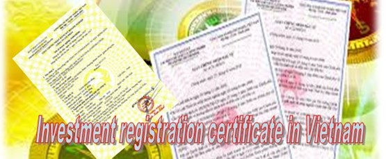 Investment registration certificate in Vietnam
