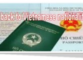 Restore Vietnamese nationality but not renounce foreign citizenship ?