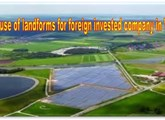 The use of landforms for foreign invested company in Vietnam