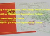 Set up a trading company, 100% foreign owned, in Vietnam