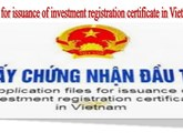 Procedures for issuance of investment registration certificate in Vietnam
